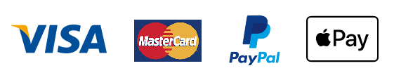 Payment methods available are Visa, Mastercard, PayPal and cheque