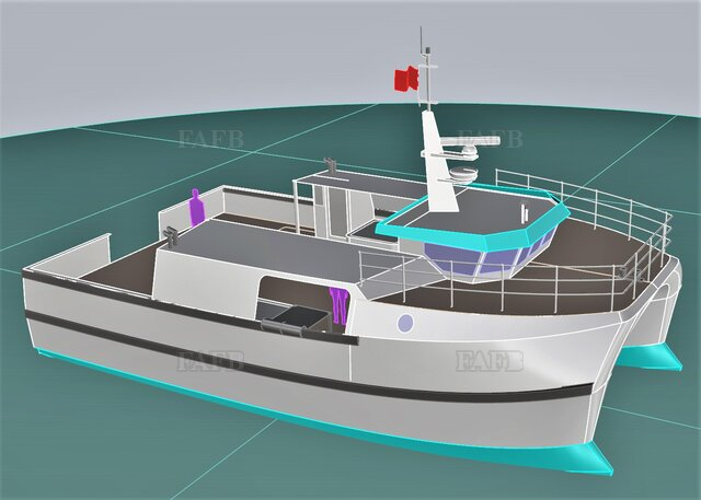 PB50 Displacement / Fastcat built by Padstow Boatyard - picture 1