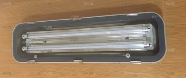 Aaa 316 stainless steel deck ip65 light with 2x led tubes £120+vat - picture 1