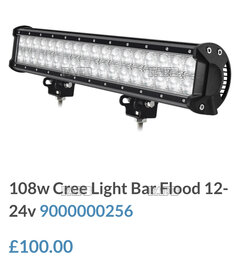 108w Cree FLOOD !! ORDER BEFORE 14.00 FOR SAME DAY DISPATCH - ID:114616