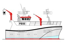 PB Tiger 50 double chine Norwegian style fishing vessel by Padstow Boatyard - PB Tiger 50 - New build - ID:105723