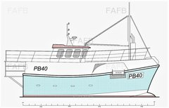 GRP Vivier Potter / Stern Trawler - Gary Mitchell design - PB40 - New Build - ID:91780