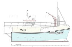 GRP Vivier Potter / Trawler - Gary Mitchell design built Padstow Boatyard - PB40 - New Build - ID:91780